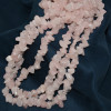 Бусы из розового кварца (крошка)