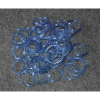 Кольцо из имитации аквамарина (стекло)