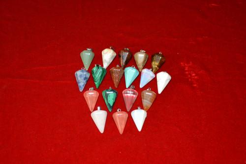 Кулон - маятник из самоцветов - цена 60.00р.